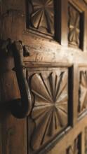 A Big Wooden Brown Door