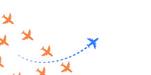 Plane With Own Way Illustration