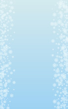 White Snow Background Vector Blue. Flake Elegant Illustration. Light Confetti Design Pattern. Snowy Snowflake Texture.