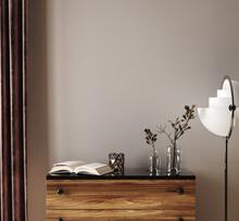 Home Mockup, Simple Modern Living Room Interior Background, 3d Render