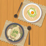 Fototapeta Natura - two korean food icons