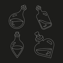 Mini Bottles, Magical Bottles, Linear Potion Bottles Set