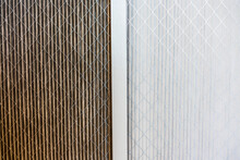 Side By Side Comparison Of A Dirty Home Air Filter Next To A Clean White One; Filter Replacement Will Maintain A Good Indoor Air Quality