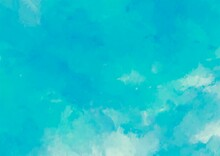 幻想的な水色のふわふわ水彩テクスチャ背景