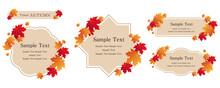 秋のイベントや企画に、上品なイメージのオータムフレームセット