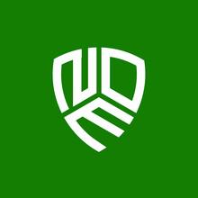 NOM Letter Logo Design On Green Background. NOM Creative Initials Letter Logo Concept. NOM Letter Design.