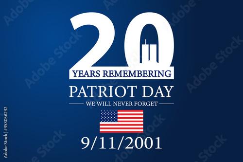 Stampa su Tela 9 11 Patriot Day 2021