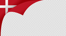 Curled Corner Denmark Flag Isolated  On Png Or Transparent  Background,Symbols Of Denmark Template For Banner,card,advertising ,magazine,vector, Top Gold Medal Winner Sport Country