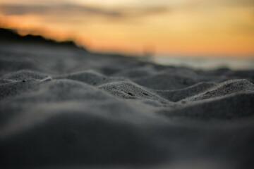 Piaski Jastarni o zachodzie Słońca