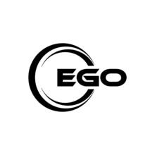 EGO Letter Logo Design With White Background In Illustrator, Vector Logo Modern Alphabet Font Overlap Style. Calligraphy Designs For Logo, Poster, Invitation, Etc.