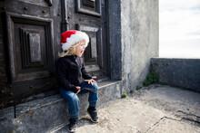 Girl In Santa Hat Screaming