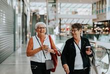 Senior Women In Shopping Mall