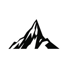 Mountains Icon Vector Set. Hike Illustration Sign Collection. Wild Nature Symbol Or Logo.