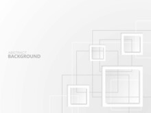 Gray Abstract Background With Square Shapes And Lines