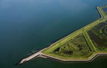 Netherlands, Zuid-Holland, Zierikzee, Aerial View Of Polder