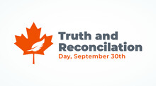 National Day Of Truth And Reconciliation Modern Creative Banner, Design Concept, Social Media Post With White Text On An Orange Background