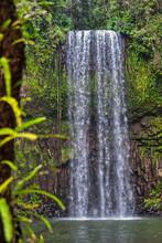 Beautiful View Of Millaa Millaa Falls In The Rainforest, Queensland, Australia