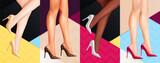 Women Legs Shoes Banners