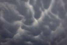 Spectacular Mammatus Clouds, Mammatocumulus Over Warsaw, Capital Of Poland
