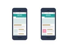 ニュースアプリとインフィード広告のイラスト素材