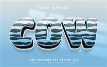 Cow Text Effect Editable