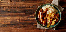 Grilled Spicy Sausages With Crispy Roasted Potato Slices