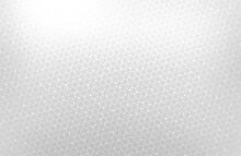 White Glittering Subtle Mosaic Triangles Textured Background. Bright Light Silver Grid Cover.