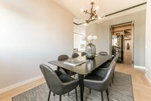 Interior Of Dining Room In Modern Flat