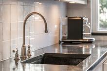 Metal Sink In Modern Kitchen