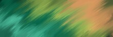Unique Painting Art With Blurred Green Paint Brush For Presentation, Card Background, Wall Decoration, Or T-shirt Design