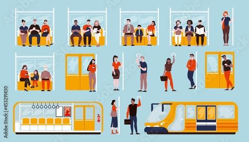 Fotografie, Obraz Metro Set Flat