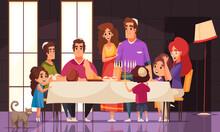 Cartoon Jewish Holiday Illustration