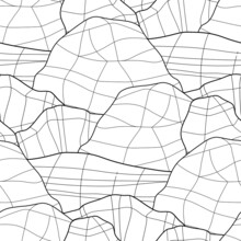 Graphic Repeated Seamless Pattern Of Faced Stones.