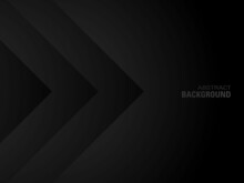Elegant Abstract Dark Background With Paper Cut Shapes