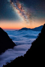 Himalayan Landscape In The Evening