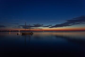 Sundown above Baltic sea