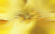 A Golden Abstraction With A Vortex In The Center. Swirling Lines In The Shape Of A Flower On A Bright Yellow Background.