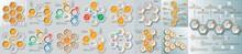 Honeycomb Business Infographics Template, Honeycomb Geometric Business Infographics. Vector Abstract 3d Paper Infographic Elements. Hexagon Infographics. Honeycomb Design