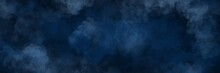 Unique Painting Art With Dark Blue Cloud Texture Brush For Presentation, Card Background, Wall Decoration, Or T-shirt Design