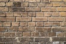 Wall Texture.. Ancient Wall Of Yellow Brick.