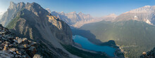 Unusuall View Of The Famous Morraine Lake, Banff National Park, Alberta Canada