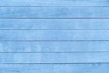Wood Plank Abstract Textured Background Or Wallpaper With Blue Color Copy Space