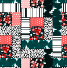 Patchwork Of Seamless Patterns With Flowers