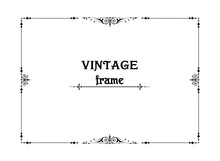 Vintage Frame For Elegant Design In Retro Style 20s. Vector