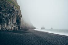 Iceland Ocean Beach Cliffs