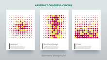 Geometric Design Covers. Minimal Abstract Pattern. Aesthetic Art Prints Minimalistic Colorful Frame Designs.