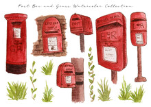 Post Box Mail Watercolor Collection
