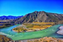 Altai Mountain Landscape Mountains Background View Panorama