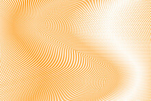 Yellow White Halftone Dots Grunge Wide Background