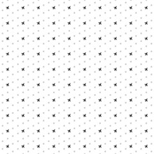 Square Seamless Background Pattern From Geometric Shapes Are Different Sizes And Opacity. The Pattern Is Evenly Filled With Small Black Plane Symbols. Vector Illustration On White Background